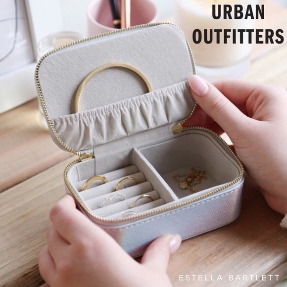 Urban Outfitters Iridescent Travel Jewelry Case
